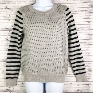 Madewell Striped Birdseye Heart Pullover Sweater M